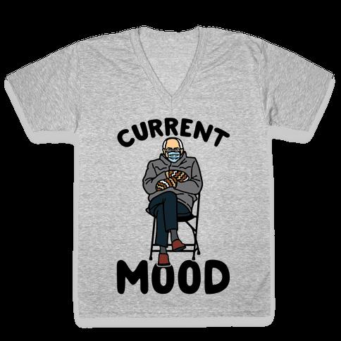 Current Mood Sassy Bernie Sanders V-Neck Tee Shirt