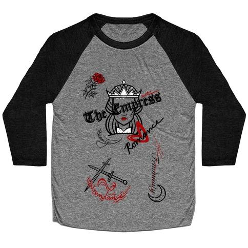 The Empress Tarot Graphics (Black) Baseball Tee