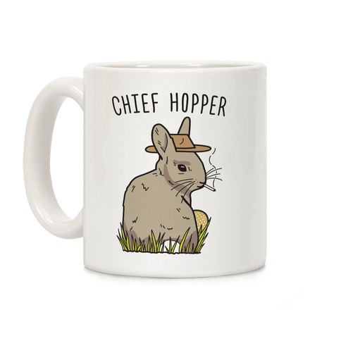 Chief Hopper Parody Coffee Mug