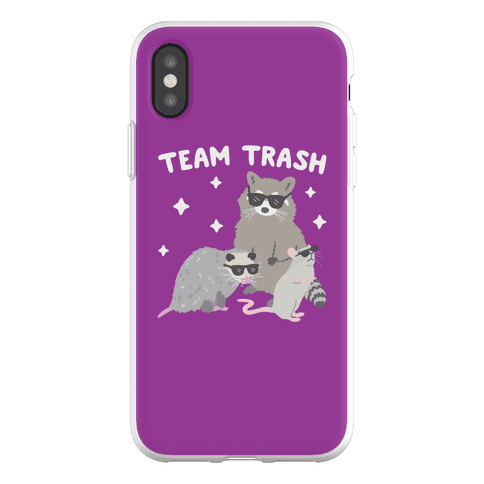 Team Trash Opossum Raccoon Rat Phone Flexi-Case