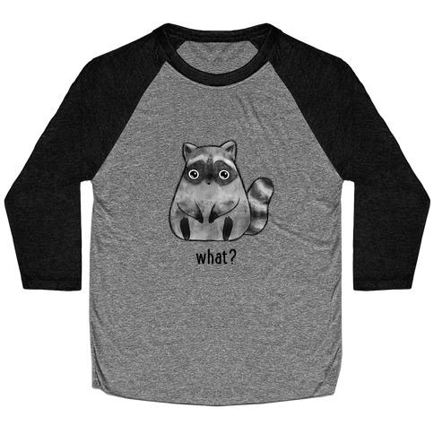 Sassy Cute Raccoon Baseball Tee