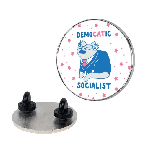 DemoCATic Socialist Pin