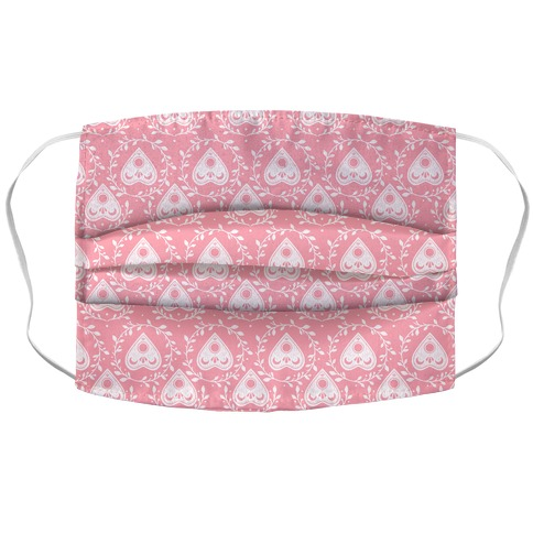 Planchette Pattern Pink Accordion Face Mask