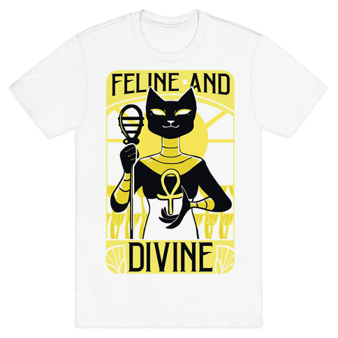 Feline and Divine Mens T-Shirt