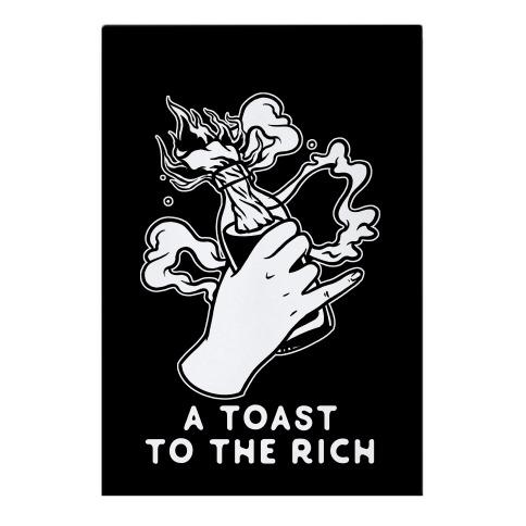 A Toast To The Rich Garden Flag