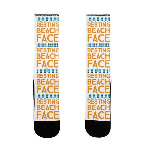 Resting Beach Face Sock