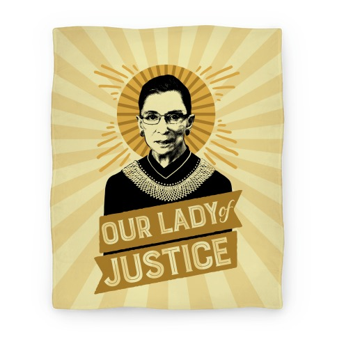 RBG: Our Lady Of Justice Blanket