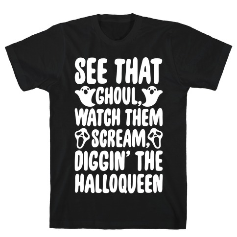 Halloween Dancing Queen Parody White Print T-Shirt