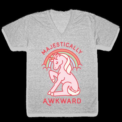 Majestically Awkward V-Neck Tee Shirt