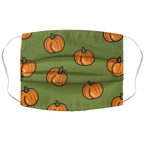 Pumpkin Butt Pattern Accordion Face Mask