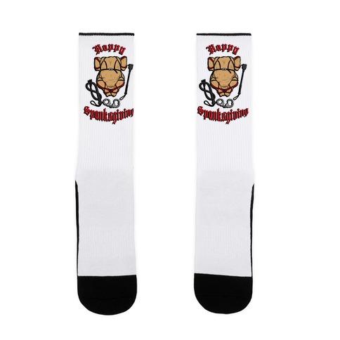 Happy Spanksgiving Sock