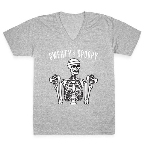 Sweaty & Spoopy V-Neck Tee Shirt