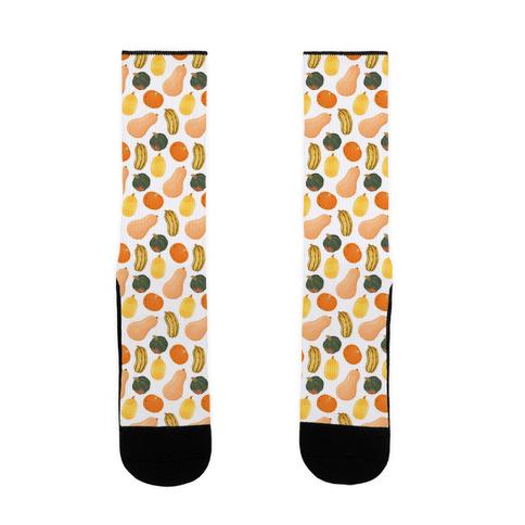 Squash Pattern Sock