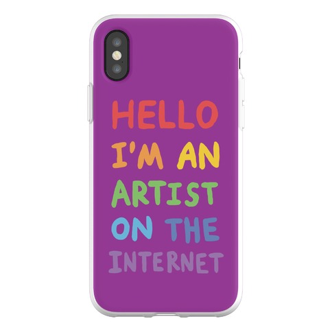 Hello I'm An Artist On The Internet Phone Flexi-Case