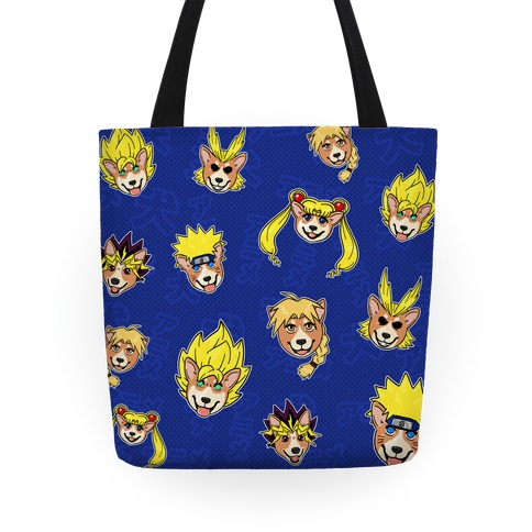 Anime Hair Corgis Tote