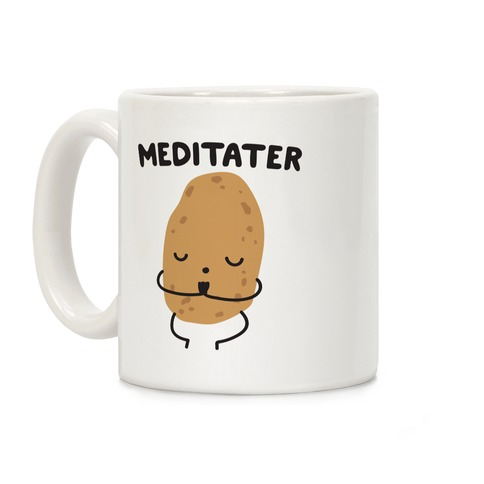 Meditater Meditating Potato Coffee Mug