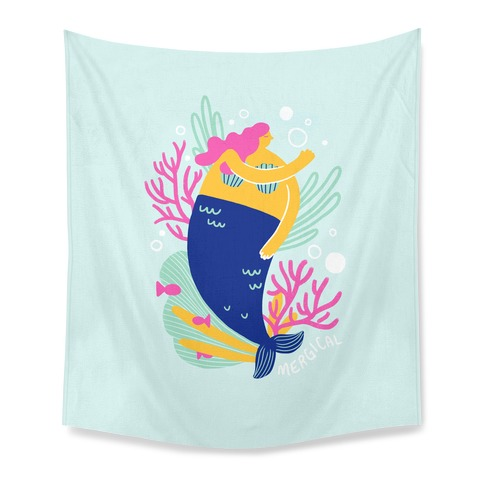 Mergical Mermaid Tapestry