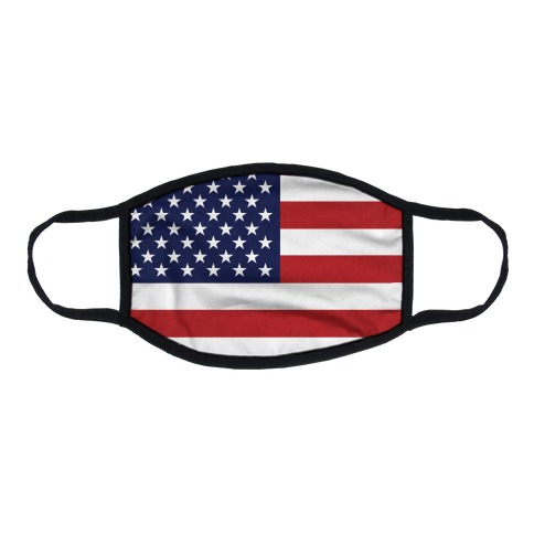 American Flag Flat Face Mask