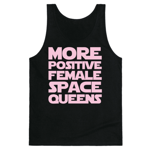 More Positive Female Space Queens White Print Tank Top