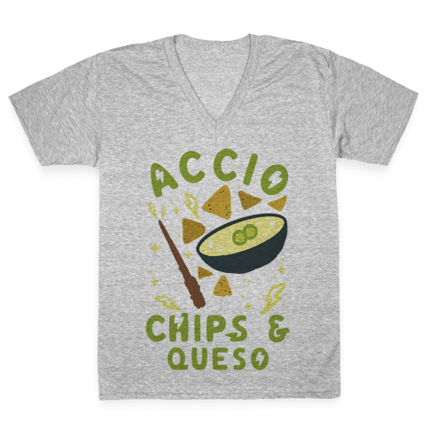 Accio Chips and Queso V-Neck Tee Shirt