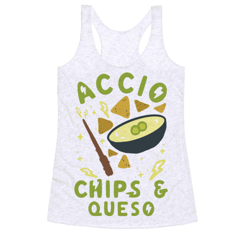Accio Chips and Queso Racerback Tank Top