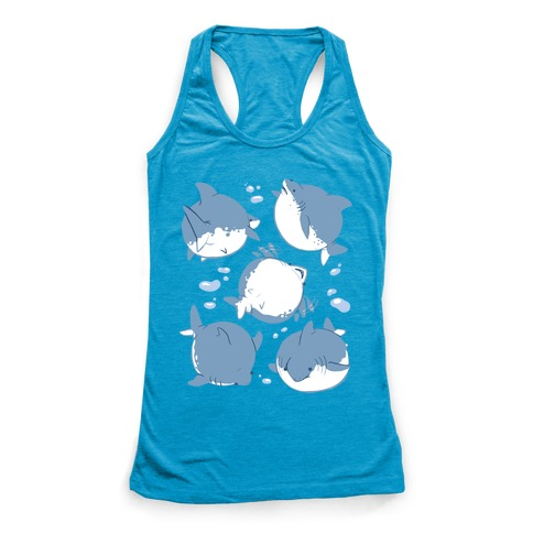 Fat Shark Pattern Racerback Tank Top