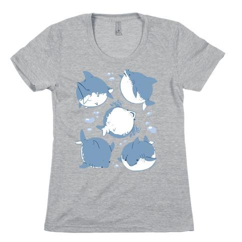 Fat Shark Pattern Womens T-Shirt