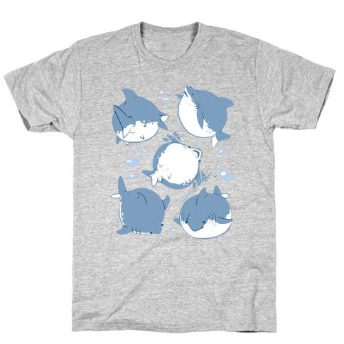 Fat Shark Pattern T-Shirt