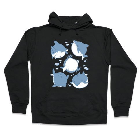 Fat Shark Pattern Hooded Sweatshirt