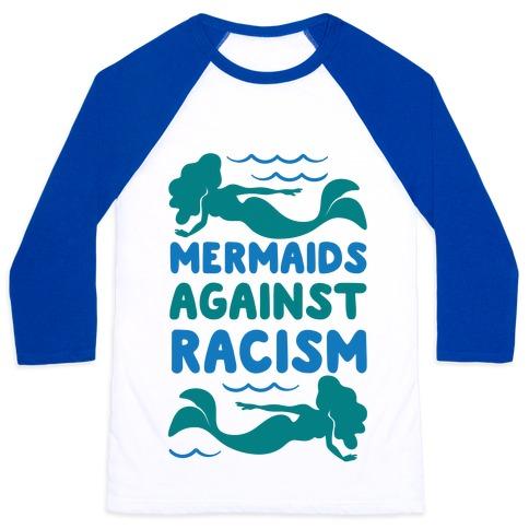 Mermaids Against Racism Baseball Tee