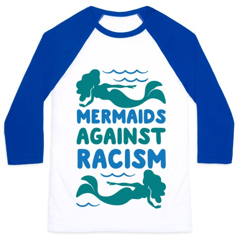 Mermaids Against Racism Baseball Tee