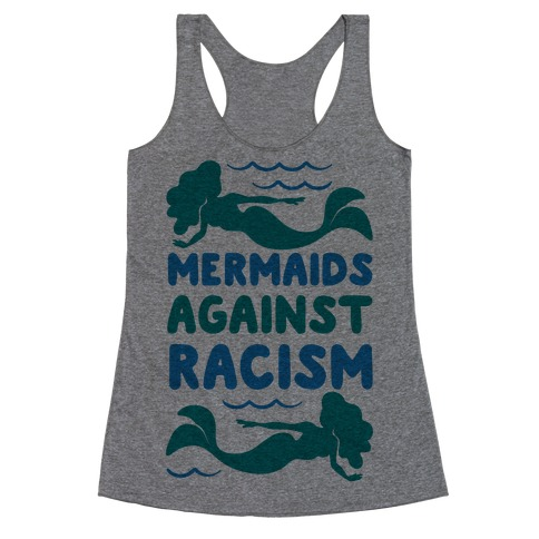 Mermaids Against Racism Racerback Tank Top