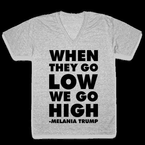 Melania Trump Quote V-Neck Tee Shirt