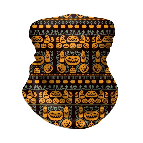 Ugly Pumpkin Sweater Neck Gaiter