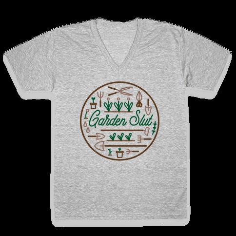 Garden Slut V-Neck Tee Shirt