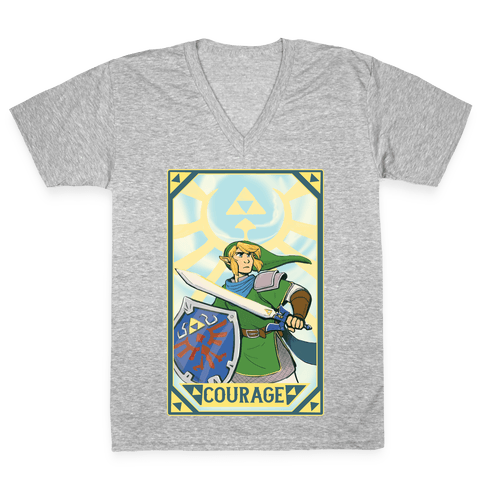 Courage - Link V-Neck Tee Shirt