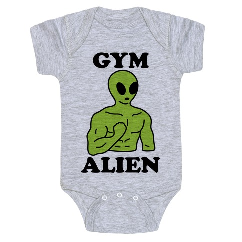 Gym Alien Baby Onesy