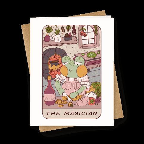 Cottagecore Magician Tarot Card Greeting Card