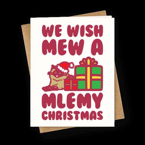 We Wish Mew A Mlemy Christmas Greeting Card