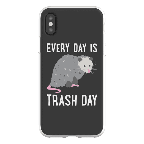 Every Day Is Trash Day Opossum Phone Flexi-Case