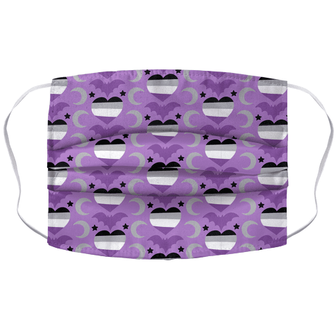 Spooky Asexual Pattern Accordion Face Mask