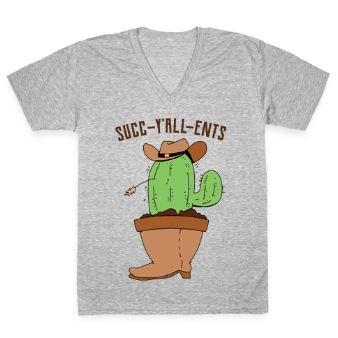 Succ-y'all-ents V-Neck Tee Shirt