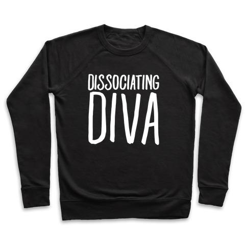 Dissociating Diva White Print Pullover