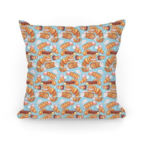 Penis Pastries Pattern Pillow