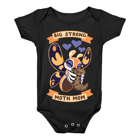 Big Strong Moth Mom Mothra Baby Onesy
