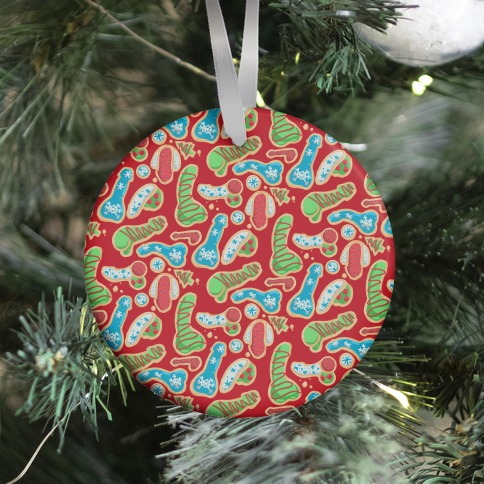 Phallic Christmas Cookies Ornament