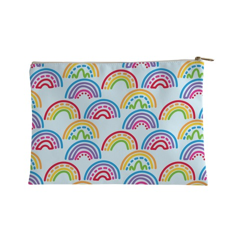 Rainbow Doodle Pattern Accessory Bag