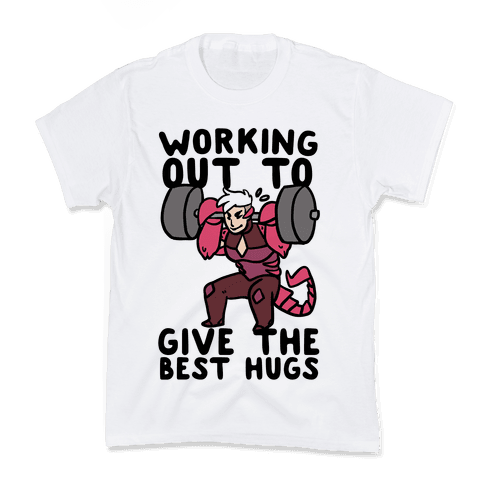 Working Out to Give the Best Hugs - Scorpia Kids T-Shirt