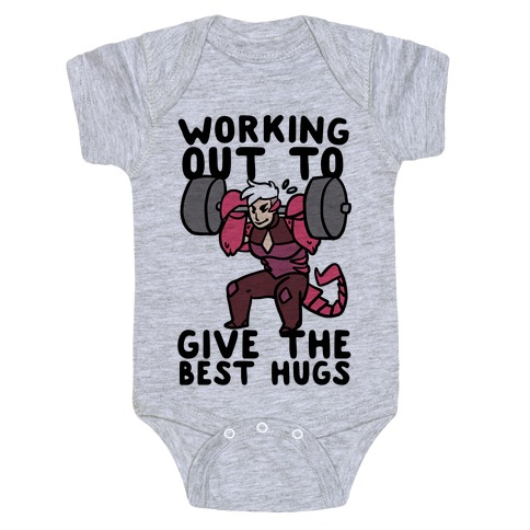 Working Out to Give the Best Hugs - Scorpia Baby Onesy