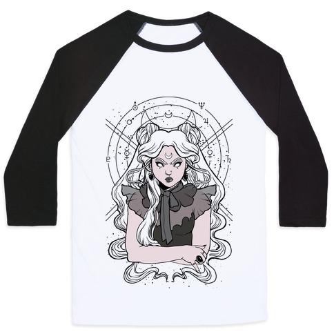 Goth Usagi (Sailor Moon Parody) Baseball Tee